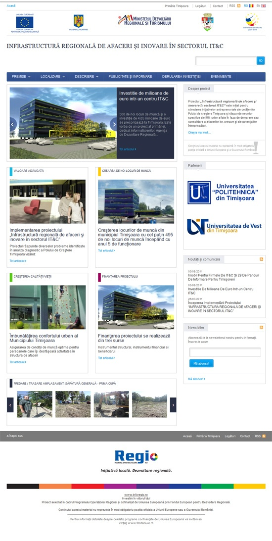 site de prezentare proiect european