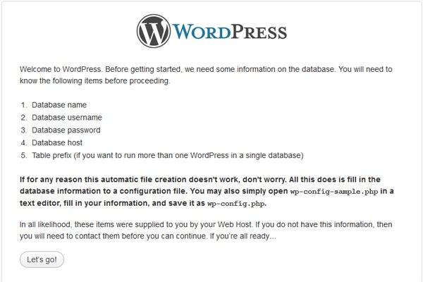 instalarea wordpress-ului pasul 2
