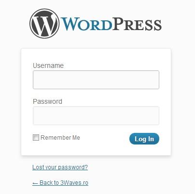 Modificarea interfeței de logare / autentificare a WordPress-ului