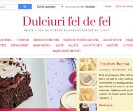 Site culinar de prezentare rețete de dulciuri