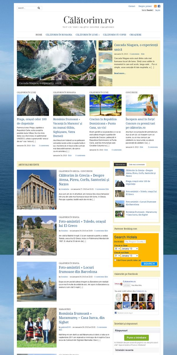 site turistic pe wordpress