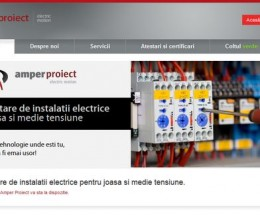 Site pe WordPress pentru o firmă din domeniul electric