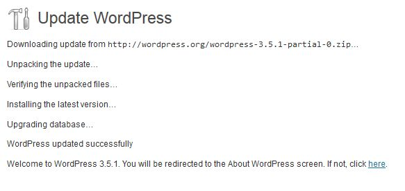 update wordpress 3.5.1-2