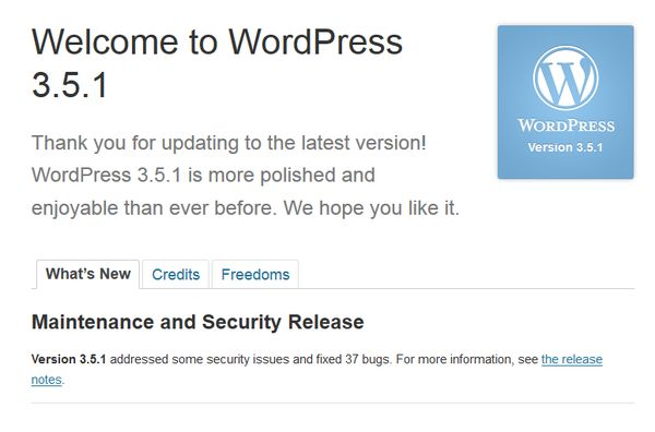 update wordpress 3.5.1-3