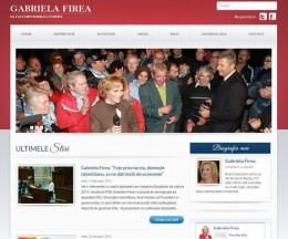 Site pe WordPress pentru un candidat parlamentar