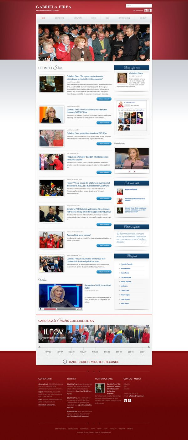 site candidat la alegeri