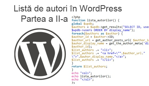 lista autori in wordpress