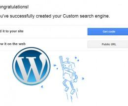 Căutare personalizată pe WordPress de la Google
