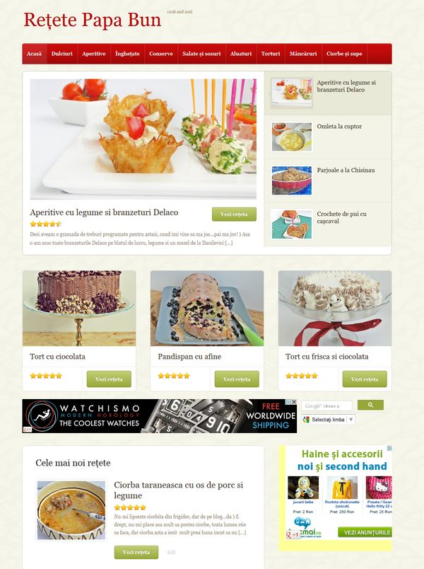 wordpress site culinar