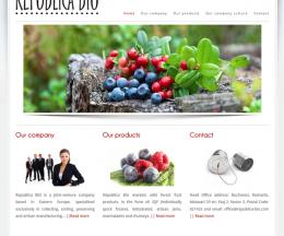 Site prezentare firmă pe WordPress: Republica Bio