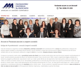Site de prezentare firmă de avocatură și expertiză contabilă