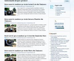 Site pe WordPress pentru un proiect european