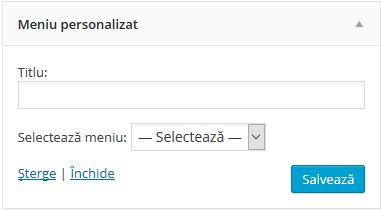 widgeturi-meniu-personalizat