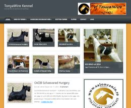 Un mic site de prezentare pe WordPress: TonyaWire Kennel