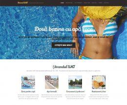 Site pentru un ștrand, dezvoltat pe WordPress